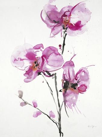 Orchids 1-Karin Johannesson-Framed Art Print