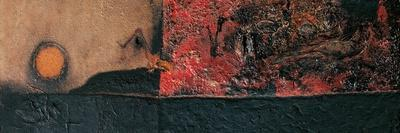 Red Black and Burning-Alberto Burri-Stretched Canvas Print