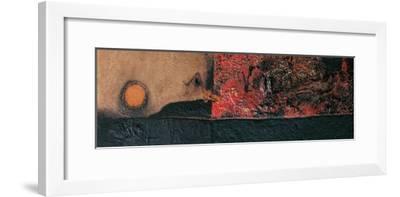 Red Black and Burning-Alberto Burri-Framed Giclee Print