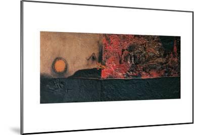 Red Black and Burning-Alberto Burri-Mounted Giclee Print