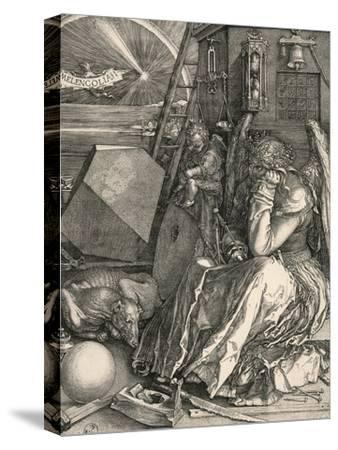 Melencolia I-Melancholia I-Albrecht D?rer-Stretched Canvas Print