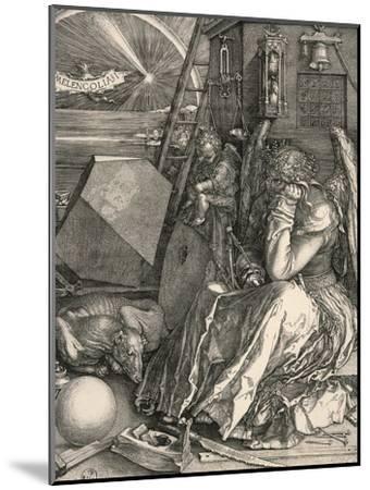 Melencolia I-Melancholia I-Albrecht D?rer-Mounted Premium Giclee Print
