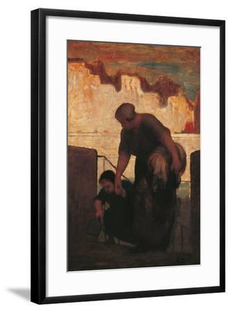 The Laundress-Honor? Daumier-Framed Giclee Print