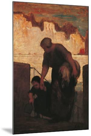 The Laundress-Honor? Daumier-Mounted Giclee Print
