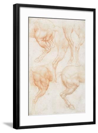 Studies of the Horse Rear Legs-Leonardo da Vinci-Framed Giclee Print