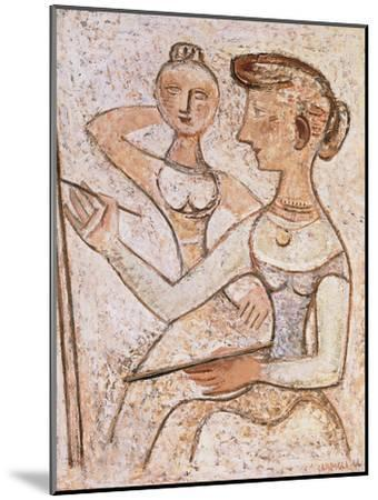 The Painter (With a Model)-Massimo Campigli-Mounted Giclee Print