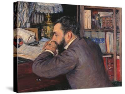 Portrait of Henri Cordier-Gustave Caillebotte-Stretched Canvas Print