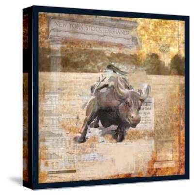 Taurus of Wall Street-Andrew Sullivan-Stretched Canvas Print
