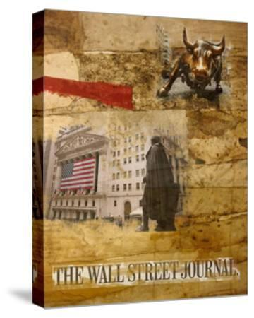 Wall Street I-Andrew Sullivan-Stretched Canvas Print