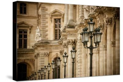 Louvre Lampposts I-Erin Berzel-Stretched Canvas Print