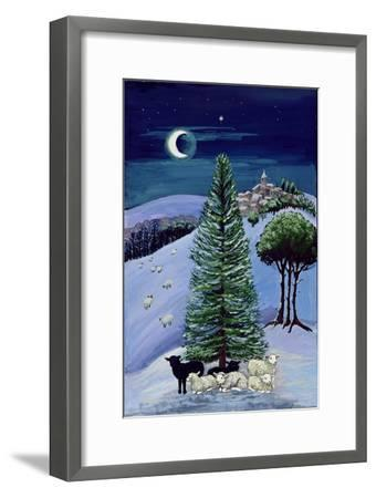 Sheep in a Winter Landscape-Margaret Loxton-Framed Giclee Print