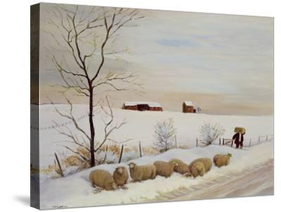 Another Hard Winter-Margaret Loxton-Stretched Canvas Print