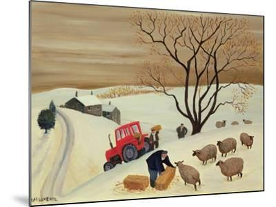 Taking Hay to the Sheep by Tractor-Margaret Loxton-Mounted Giclee Print