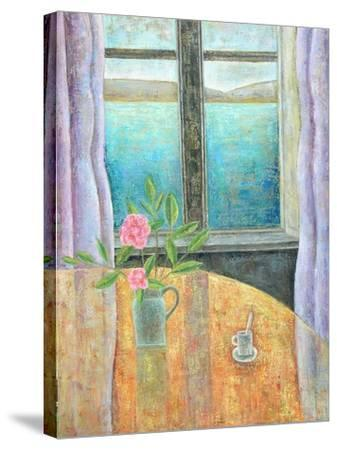 Still Life in Window with Camellia, 2012-Ruth Addinall-Stretched Canvas Print