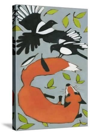 Magpies and Fox, 2013-Megan Moore-Stretched Canvas Print