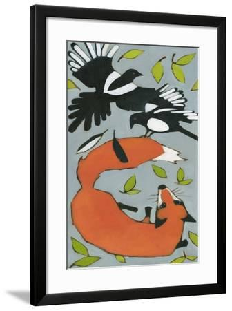 Magpies and Fox, 2013-Megan Moore-Framed Giclee Print