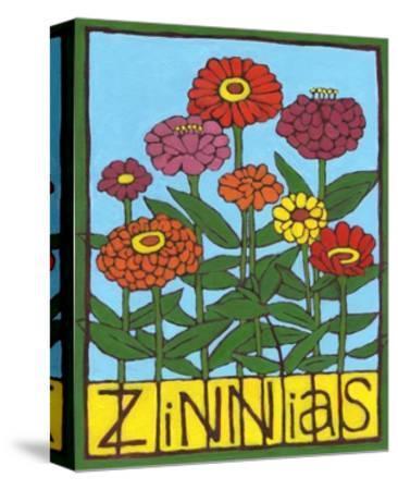 Zinnias, 2004-Megan Moore-Stretched Canvas Print