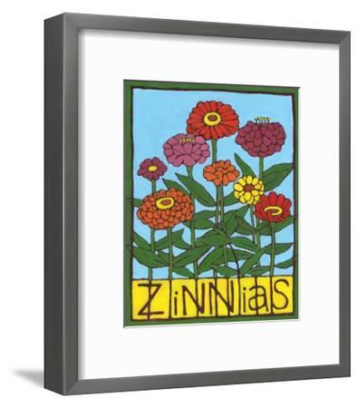 Zinnias, 2004-Megan Moore-Framed Giclee Print