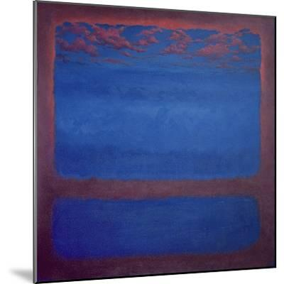Ultramarine, 2001 Abstract Blue-Lee Campbell-Mounted Giclee Print
