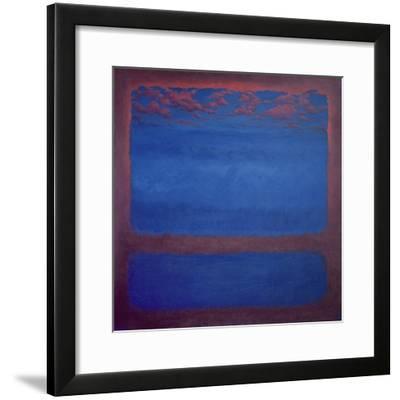 Ultramarine, 2001 Abstract Blue-Lee Campbell-Framed Giclee Print