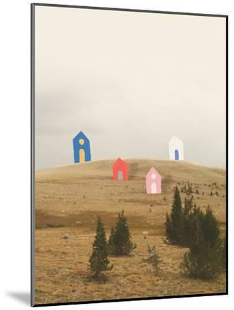 Cottages on Big Horn-Danielle Kroll-Mounted Giclee Print
