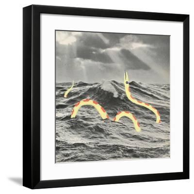 Suspicious Snake-Danielle Kroll-Framed Giclee Print
