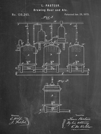 Brewing Beer Patent--Premium Giclee Print