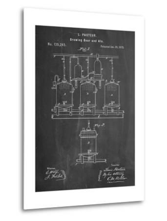 Brewing Beer Patent--Metal Print