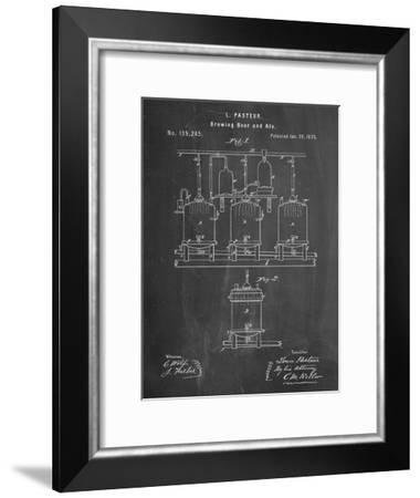 Brewing Beer Patent--Framed Art Print