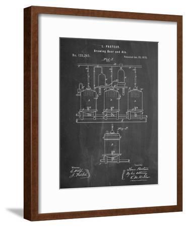 Brewing Beer Patent--Framed Art Print