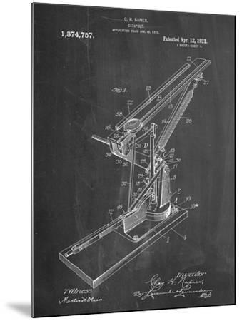 Catapult Patent 1921--Mounted Art Print