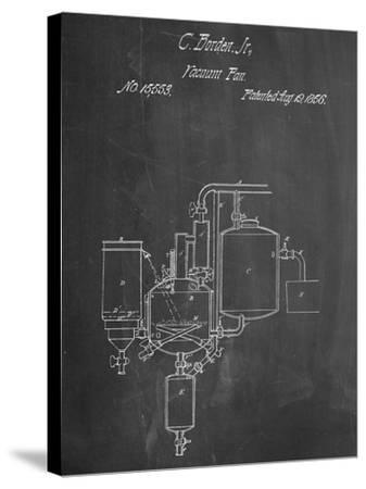 Milk Pasteurization Patent 1856--Stretched Canvas Print