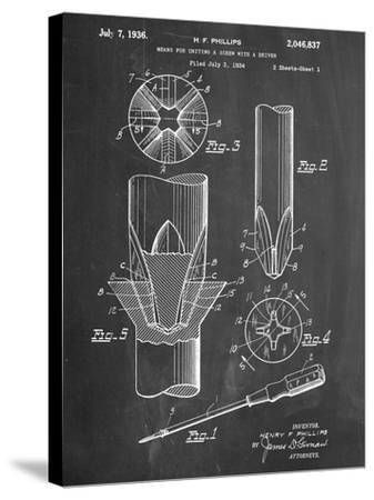 Phillips Screw Driver Patent--Stretched Canvas Print