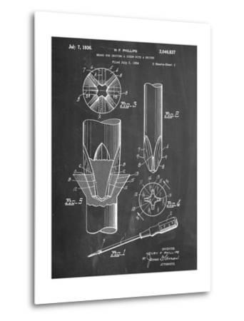 Phillips Screw Driver Patent--Metal Print