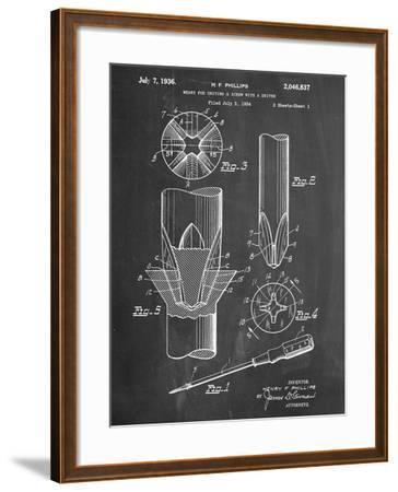 Phillips Screw Driver Patent--Framed Art Print