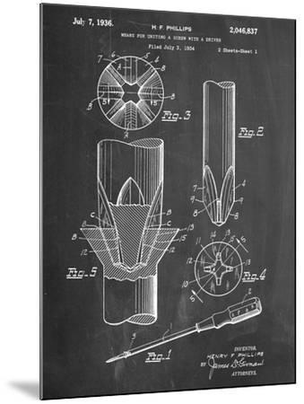 Phillips Screw Driver Patent--Mounted Art Print