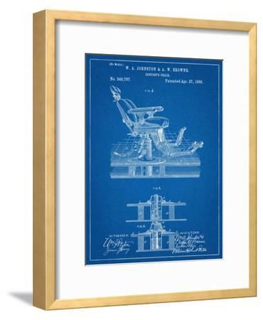 Dentists Chair Patent 1886--Framed Art Print