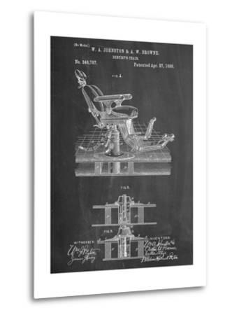 Dentists Chair Patent 1886--Metal Print