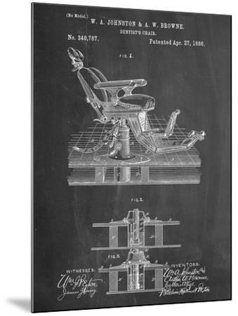 Dentists Chair Patent 1886--Mounted Art Print