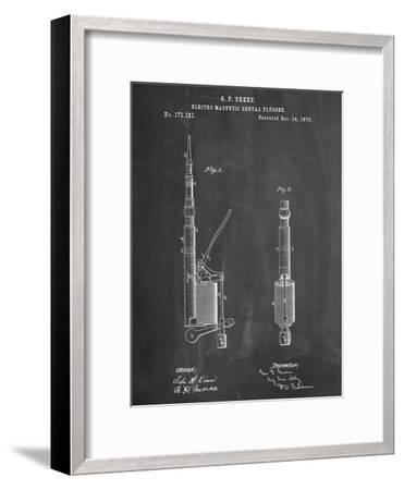 Dentists Drill Patent--Framed Art Print
