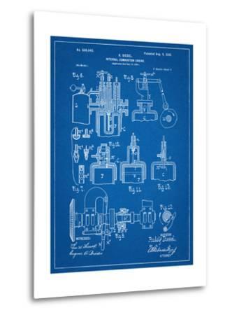 Diesel Engine Patent--Metal Print
