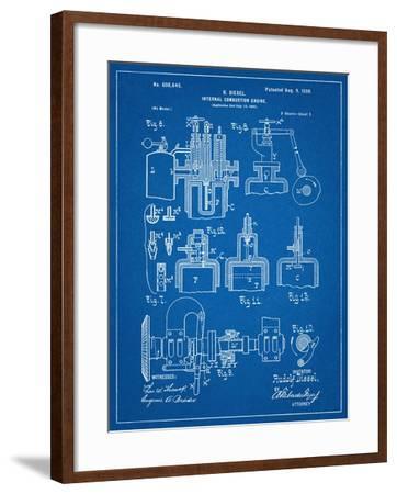Diesel Engine Patent--Framed Art Print