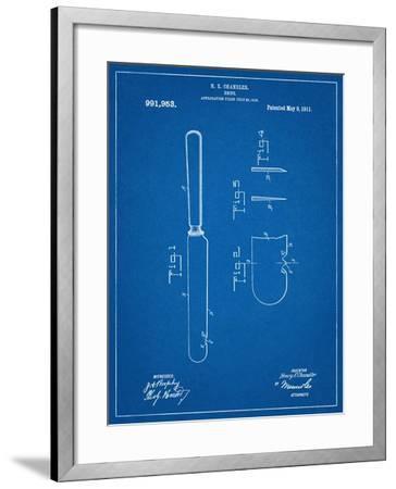 Dinner Knife Patent--Framed Art Print