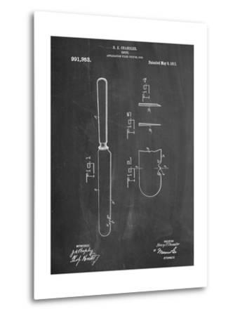 Dinner Knife Patent--Metal Print