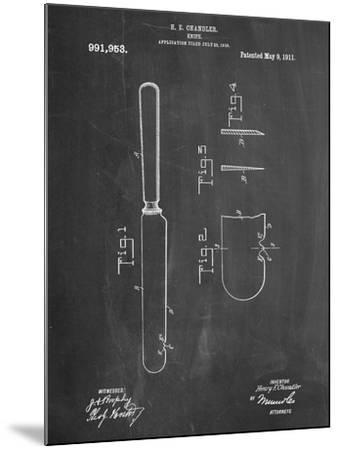 Dinner Knife Patent--Mounted Art Print