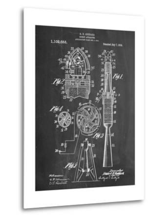 Rocket Patent--Metal Print