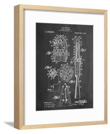 Rocket Patent--Framed Art Print