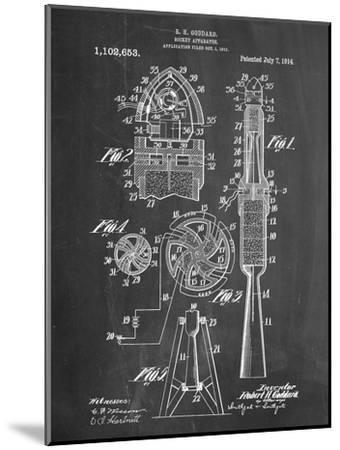 Rocket Patent--Mounted Art Print