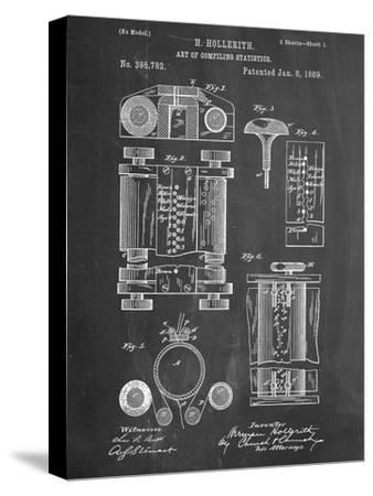 First Computer Patent 1889--Stretched Canvas Print