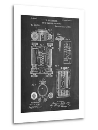 First Computer Patent 1889--Metal Print